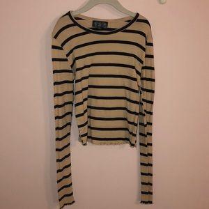 Topshop long sleeve striped shirt